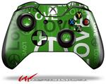 Decal Style Skin for Microsoft XBOX One Wireless Controller Love and Peace Green - (CONTROLLER NOT INCLUDED)