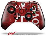 Decal Style Skin for Microsoft XBOX One Wireless Controller Love and Peace Red - (CONTROLLER NOT INCLUDED)