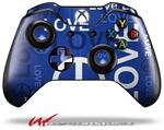 Decal Style Skin for Microsoft XBOX One Wireless Controller Love and Peace Blue - (CONTROLLER NOT INCLUDED)