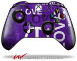 Decal Style Skin for Microsoft XBOX One Wireless Controller Love and Peace Purple - (CONTROLLER NOT INCLUDED)