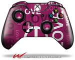 Decal Style Skin for Microsoft XBOX One Wireless Controller Love and Peace Hot Pink - (CONTROLLER NOT INCLUDED)