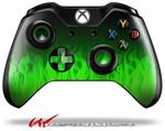 Decal Style Skin for Microsoft XBOX One Wireless Controller Fire Green - (CONTROLLER NOT INCLUDED)