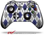 Decal Style Skin for Microsoft XBOX One Wireless Controller Argyle Blue and Gray - (CONTROLLER NOT INCLUDED)
