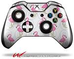Decal Style Skin for Microsoft XBOX One Wireless Controller Flamingos on White - (CONTROLLER NOT INCLUDED)