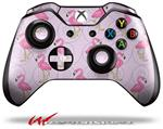 Decal Style Skin for Microsoft XBOX One Wireless Controller Flamingos on Pink - (CONTROLLER NOT INCLUDED)