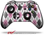 Decal Style Skin for Microsoft XBOX One Wireless Controller Argyle Pink and Gray - (CONTROLLER NOT INCLUDED)
