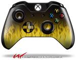 Decal Style Skin for Microsoft XBOX One Wireless Controller Fire Yellow - (CONTROLLER NOT INCLUDED)