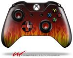 Decal Style Skin for Microsoft XBOX One Wireless Controller Fire on Black - (CONTROLLER NOT INCLUDED)
