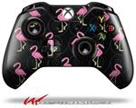 Decal Style Skin for Microsoft XBOX One Wireless Controller Flamingos on Black - (CONTROLLER NOT INCLUDED)