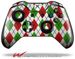 Decal Style Skin for Microsoft XBOX One Wireless Controller Argyle Red and Green - (CONTROLLER NOT INCLUDED)
