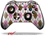 Decal Style Skin for Microsoft XBOX One Wireless Controller Argyle Pink and Brown - (CONTROLLER NOT INCLUDED)