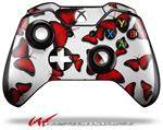 Decal Style Skin for Microsoft XBOX One Wireless Controller Butterflies Red - (CONTROLLER NOT INCLUDED)