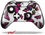 Decal Style Skin for Microsoft XBOX One Wireless Controller Butterflies Purple - (CONTROLLER NOT INCLUDED)