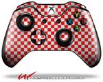 Decal Style Skin for Microsoft XBOX One Wireless Controller Checkered Canvas Red and White - (CONTROLLER NOT INCLUDED)