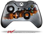 Decal Style Skin for Microsoft XBOX One Wireless Controller Ripped Metal Fire - (CONTROLLER NOT INCLUDED)