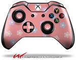 Decal Style Skin for Microsoft XBOX One Wireless Controller Pastel Flowers on Pink - (CONTROLLER NOT INCLUDED)