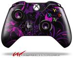 Decal Style Skin for Microsoft XBOX One Wireless Controller Twisted Garden Purple and Hot Pink - (CONTROLLER NOT INCLUDED)