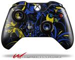 Decal Style Skin for Microsoft XBOX One Wireless Controller Twisted Garden Blue and Yellow - (CONTROLLER NOT INCLUDED)