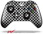 Decal Style Skin for Microsoft XBOX One Wireless Controller Checkered Canvas Black and White - (CONTROLLER NOT INCLUDED)