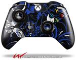 Decal Style Skin for Microsoft XBOX One Wireless Controller Twisted Garden Blue and White - (CONTROLLER NOT INCLUDED)