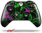Decal Style Skin for Microsoft XBOX One Wireless Controller Twisted Garden Green and Hot Pink - (CONTROLLER NOT INCLUDED)