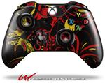Decal Style Skin for Microsoft XBOX One Wireless Controller Twisted Garden Red and Yellow - (CONTROLLER NOT INCLUDED)