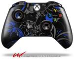 Decal Style Skin for Microsoft XBOX One Wireless Controller Twisted Garden Gray and Blue - (CONTROLLER NOT INCLUDED)