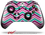 Decal Style Skin for Microsoft XBOX One Wireless Controller Zig Zag Teal Pink Purple - (CONTROLLER NOT INCLUDED)