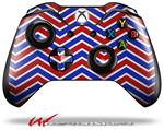Decal Style Skin for Microsoft XBOX One Wireless Controller Zig Zag Red White and Blue - (CONTROLLER NOT INCLUDED)