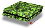 Scattered Skulls Neon Green - Decal Style Skin fits original PS4 Gaming Console