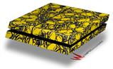 Scattered Skulls Yellow - Decal Style Skin fits original PS4 Gaming Console
