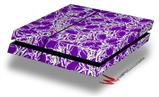 Scattered Skulls Purple - Decal Style Skin fits original PS4 Gaming Console