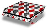Argyle Red and Gray - Decal Style Skin fits original PS4 Gaming Console