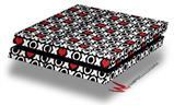 XO Hearts - Decal Style Skin fits original PS4 Gaming Console