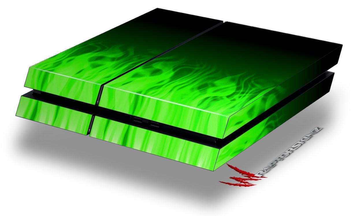 Sony Ps4 Console Skins Fire Green Wraptorskinz