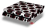 Red And Black Squared - Decal Style Skin fits original PS4 Gaming Console