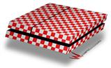 Checkered Canvas Red and White - Decal Style Skin fits original PS4 Gaming Console