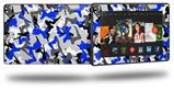 Sexy Girl Silhouette Camo Blue - Decal Style Skin fits 2013 Amazon Kindle Fire HD 7 inch