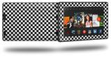 Checkered Canvas Black and White - Decal Style Skin fits 2013 Amazon Kindle Fire HD 7 inch