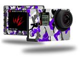 Sexy Girl Silhouette Camo Purple - Decal Style Skin fits GoPro Hero 4 Silver Camera (GOPRO SOLD SEPARATELY)