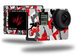 Sexy Girl Silhouette Camo Red - Decal Style Skin fits GoPro Hero 4 Silver Camera (GOPRO SOLD SEPARATELY)