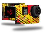 Halftone Splatter Yellow Red - Decal Style Skin fits GoPro Hero 4 Silver Camera (GOPRO SOLD SEPARATELY)