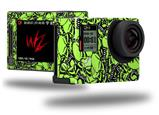 Scattered Skulls Neon Green - Decal Style Skin fits GoPro Hero 4 Silver Camera (GOPRO SOLD SEPARATELY)