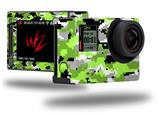 WraptorCamo Digital Camo Neon Green - Decal Style Skin fits GoPro Hero 4 Silver Camera (GOPRO SOLD SEPARATELY)