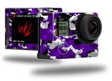 WraptorCamo Digital Camo Purple - Decal Style Skin fits GoPro Hero 4 Silver Camera (GOPRO SOLD SEPARATELY)