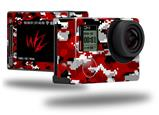 WraptorCamo Digital Camo Red - Decal Style Skin fits GoPro Hero 4 Silver Camera (GOPRO SOLD SEPARATELY)