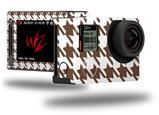 Houndstooth Chocolate Brown - Decal Style Skin fits GoPro Hero 4 Silver Camera (GOPRO SOLD SEPARATELY)