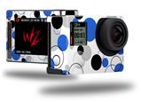 Lots of Dots Blue on White - Decal Style Skin fits GoPro Hero 4 Silver Camera (GOPRO SOLD SEPARATELY)