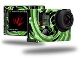 Alecias Swirl 02 Green - Decal Style Skin fits GoPro Hero 4 Silver Camera (GOPRO SOLD SEPARATELY)