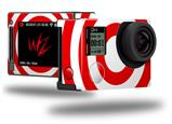 Bullseye Red and White - Decal Style Skin fits GoPro Hero 4 Silver Camera (GOPRO SOLD SEPARATELY)